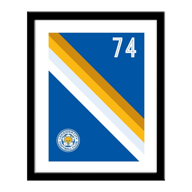 Personalised Leicester City FC Stripe Print