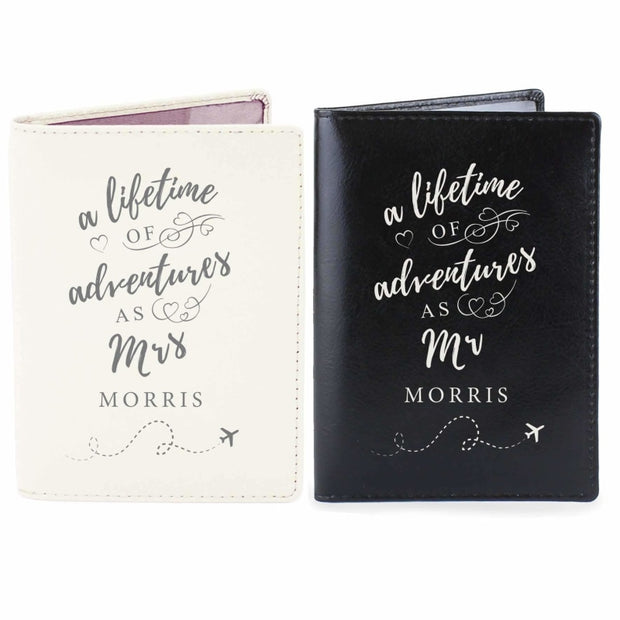 Personalised Lifetime of Adventures Couples Passports-Passport Holders-Give Personalised Gifts