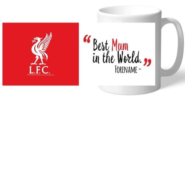 Personalised Liverpool FC Best Mum In The World Mug-Mugs-Give Personalised Gifts