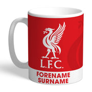Personalised Liverpool FC Bold Crest Mug-Mugs-Give Personalised Gifts