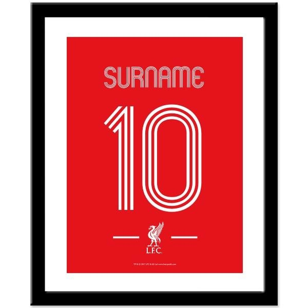 Personalised Liverpool FC Retro Shirt Print-Framed Print-Give Personalised Gifts