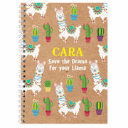 Personalised Llama A5 Notebook-Books-Give Personalised Gifts