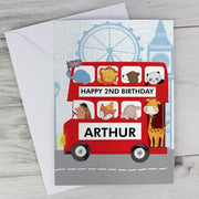 Personalised London Animal Bus Card-Personalised Cards-Give Personalised Gifts