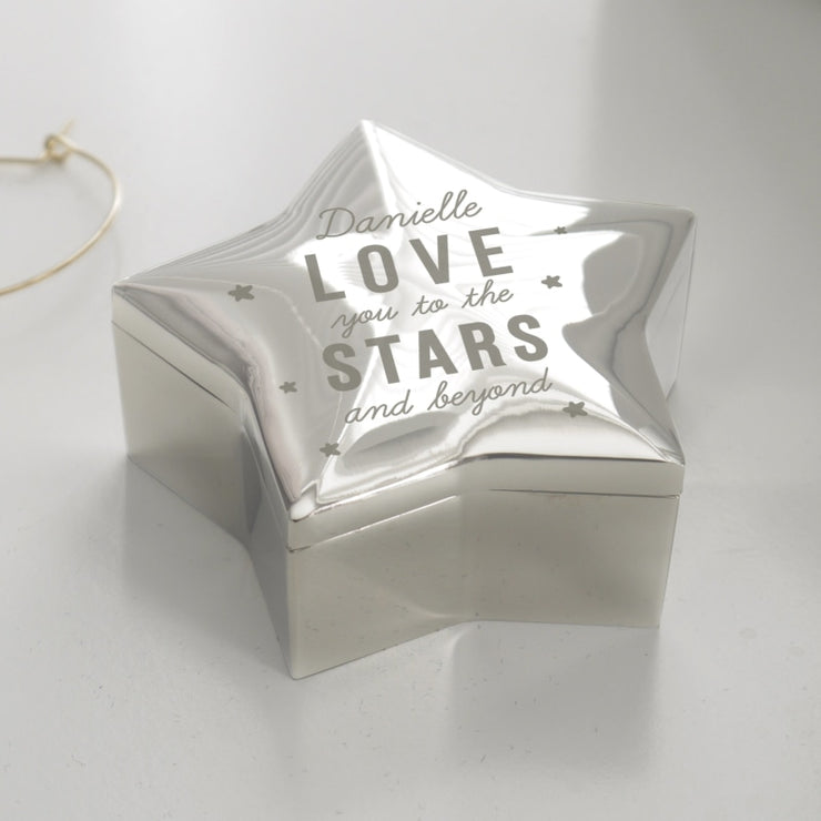 Personalised Love You To The Stars Star Trinket Box-Trinket Box-Give Personalised Gifts