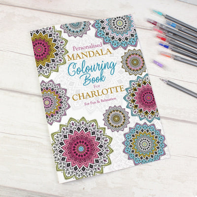 Personalised Mandala Colouring Book-Colouring Book-Give Personalised Gifts