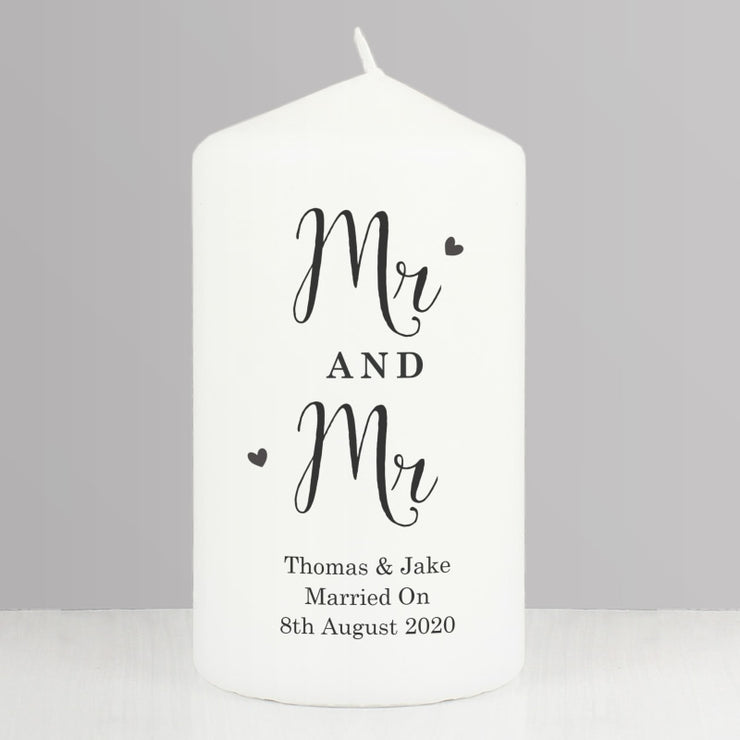 Personalised Married Couple Pillar Candle-Candles & Holder-Give Personalised Gifts