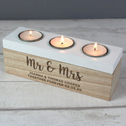 Personalised Married Couple Triple Tea Light Box-Candles & Holder-Give Personalised Gifts