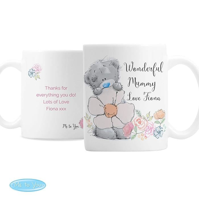 Personalised Me to You Floral Mug-Mugs-Give Personalised Gifts