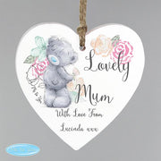 Personalised Me to You Floral Wooden Heart Decoration-Signs-Give Personalised Gifts