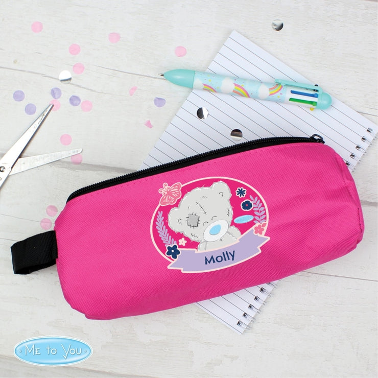 Personalised Me To You Pink Pencil Case-Pen & Pencil Set-Give Personalised Gifts