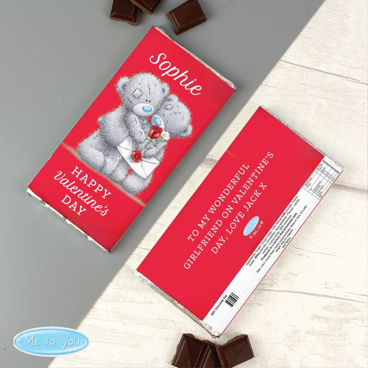 Personalised Me to You Valentine Milk Chocolate Bar-Chocolate Bar-Give Personalised Gifts