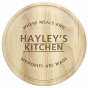 Personalised 'Meals and Memories' Round Chopping Board-Kitchen Accessories-Give Personalised Gifts