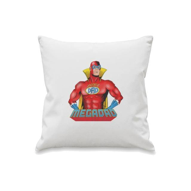 Personalised Mega dad Cushion Cover-Cushion Cover-Give Personalised Gifts