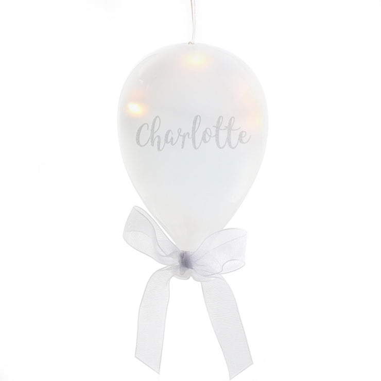Personalised Message LED Glass Balloon-Hanging Decoration-Give Personalised Gifts