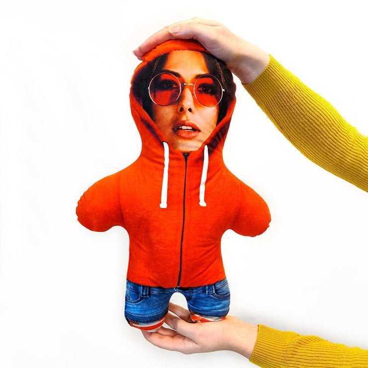 Personalised Mini Me Doll - Hoddie Orange-Mini-Me-Give Personalised Gifts