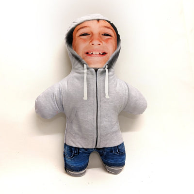 Personalised Mini Me Doll - Hoodie Grey-Mini-Me-Give Personalised Gifts