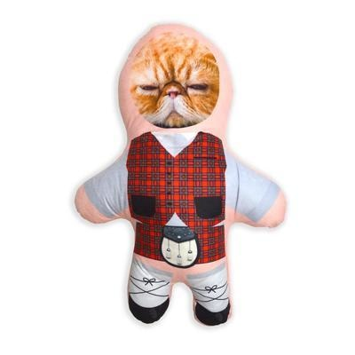 Personalised Mini Me Doll - Scottish - Red Tartan-Mini-Me-Give Personalised Gifts