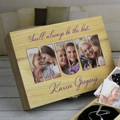 Personalised MUM Photo Upload - Wooden Keepsake Box-Keepsake Box-Give Personalised Gifts