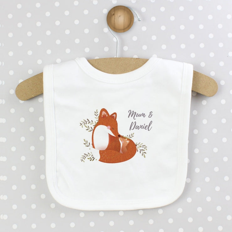 Personalised Mummy and Me Fox Bib-Bibs-Give Personalised Gifts