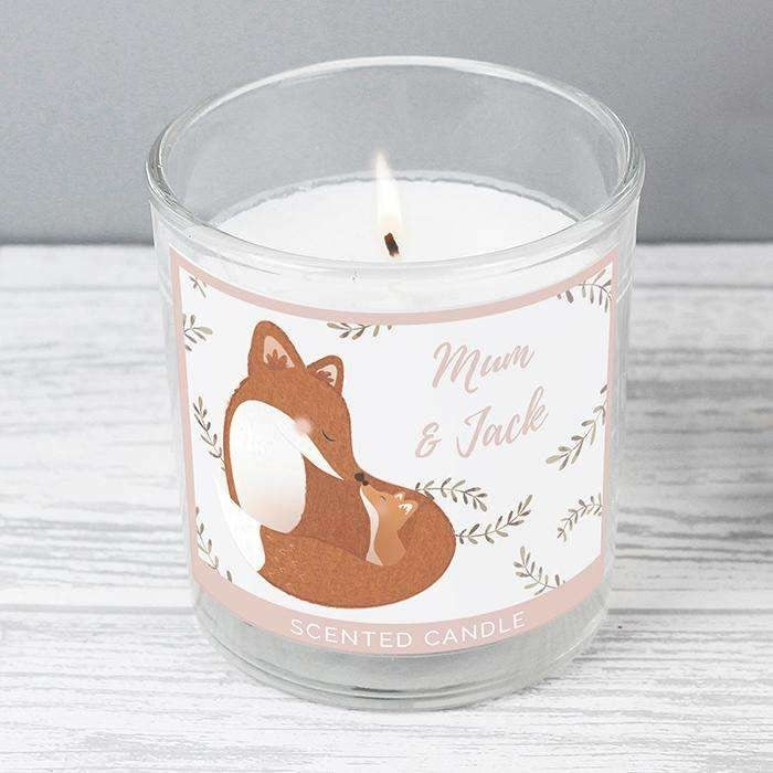 Personalised Mummy and Me Fox Scented Jar Candle-Candles & Holder-Give Personalised Gifts