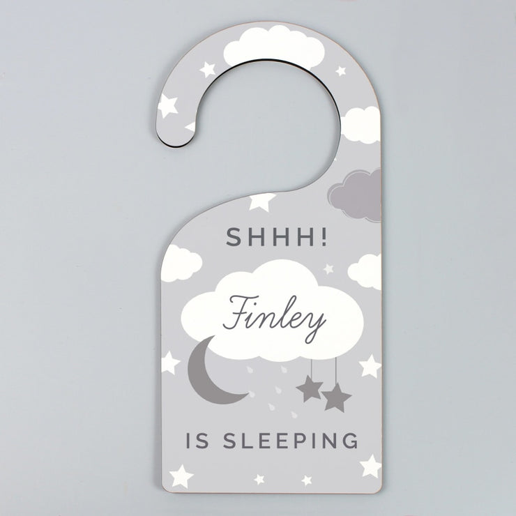 Personalised New Baby Moon & Stars Door Hanger-Door Hanger-Give Personalised Gifts