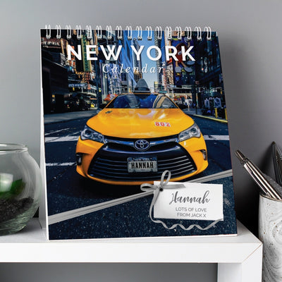 Personalised New York Desk Calendar-Calendar-Give Personalised Gifts