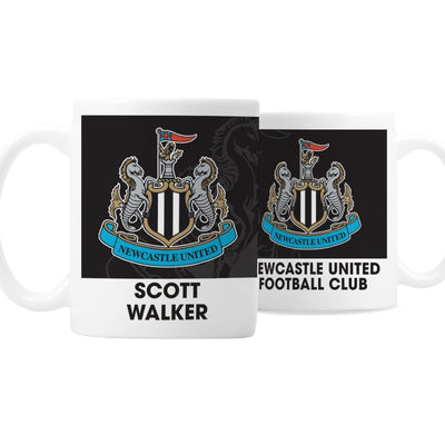 Personalised Newcastle United FC Bold Crest Mug-Mugs-Give Personalised Gifts