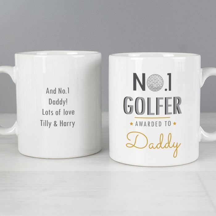 Personalised No.1 Golfer Mug-Mugs-Give Personalised Gifts