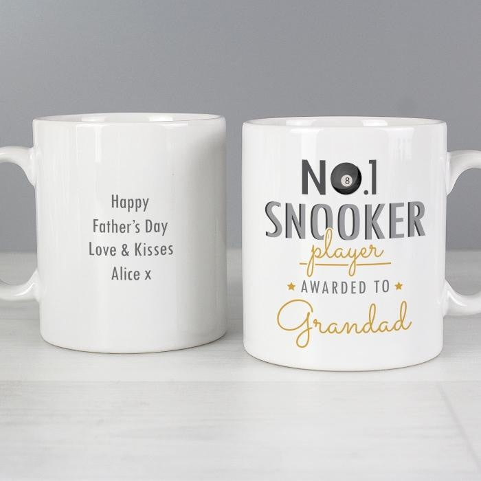 Personalised No.1 Snooker Player Mug-Mugs-Give Personalised Gifts