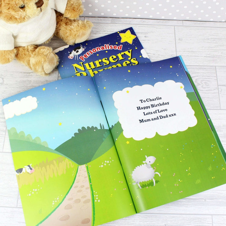 Personalised Nursery Rhyme Book-Story Book-Give Personalised Gifts