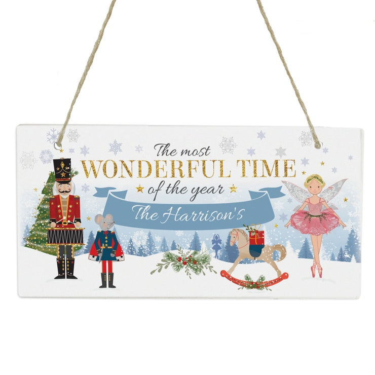 Personalised Nutcracker Wooden Sign-Wooden Sign-Give Personalised Gifts