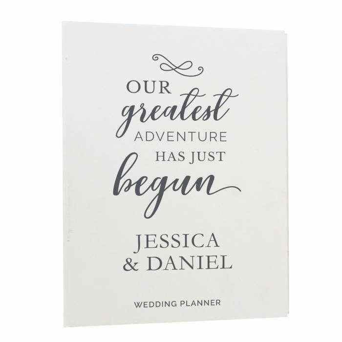 Personalised Our Greatest Adventure Wedding Planner-Wedding Planner-Give Personalised Gifts