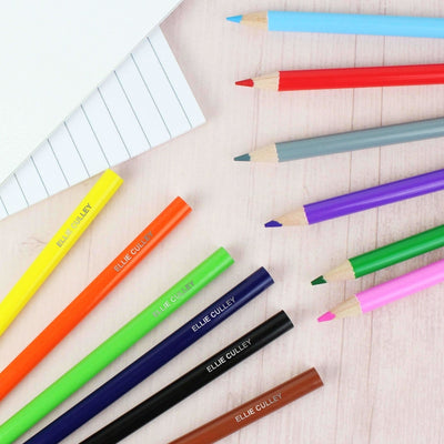 Personalised Pack of 12 Colouring Pencils-Stationary & Accessories Set-Give Personalised Gifts