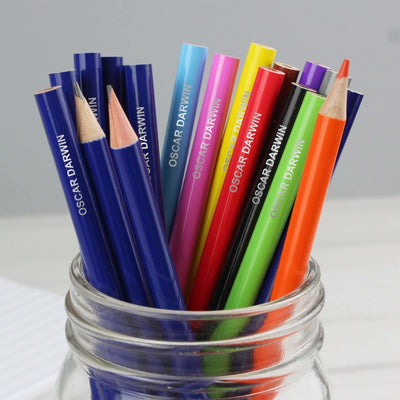 Personalised Pack of 20 HB Pencils & Colouring Pencils-Stationary & Accessories Set-Give Personalised Gifts