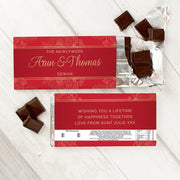 Personalised Paisley Wedding Milk Chocolate Bar-Chocolate Bar-Give Personalised Gifts