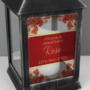 Personalised Paisley Wedding Rustic Black Lantern-Lantern-Give Personalised Gifts