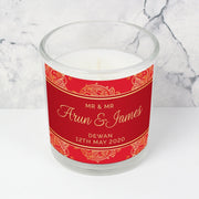 Personalised Paisley Wedding Scented Jar Candle-Candles & Holder-Give Personalised Gifts