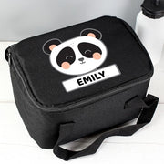 Personalised Panda Black Lunch Bag-Lunch Bag-Give Personalised Gifts