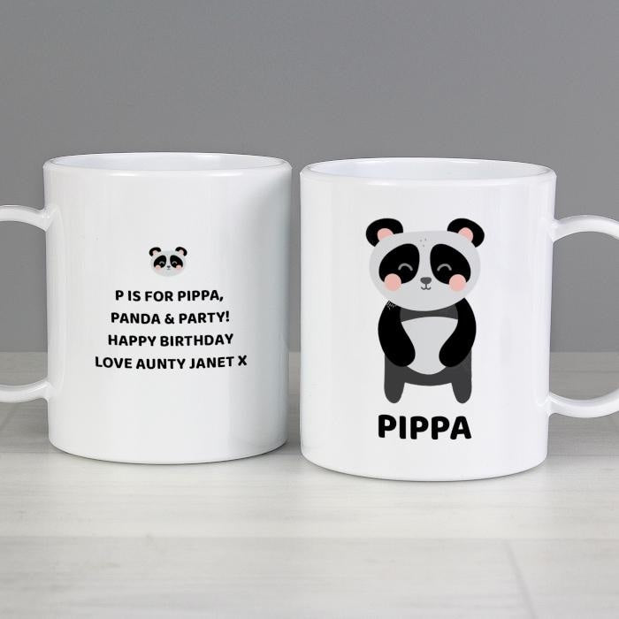 Personalised Panda Plastic Mug-Plastic Mug-Give Personalised Gifts