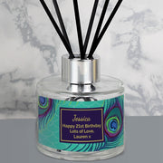 Personalised Peacock Reed Diffuser-Diffuser-Give Personalised Gifts