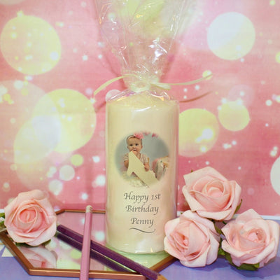 Personalised Photo Birthday Candle-Candles & Holder-Give Personalised Gifts
