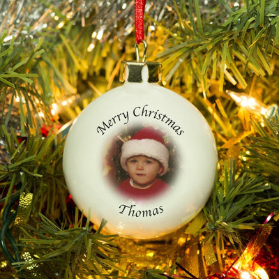 Personalised Photo Christmas Bauble-Bauble-Give Personalised Gifts