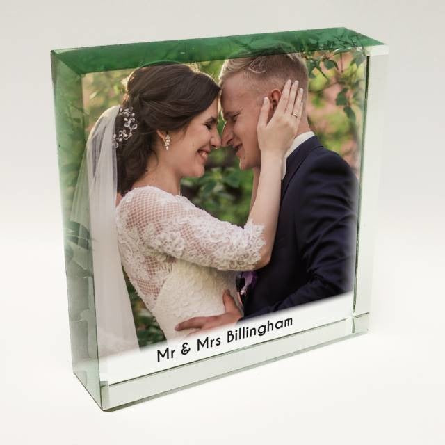 Personalised Photo Jade Glass Token-Crystal Token-Give Personalised Gifts