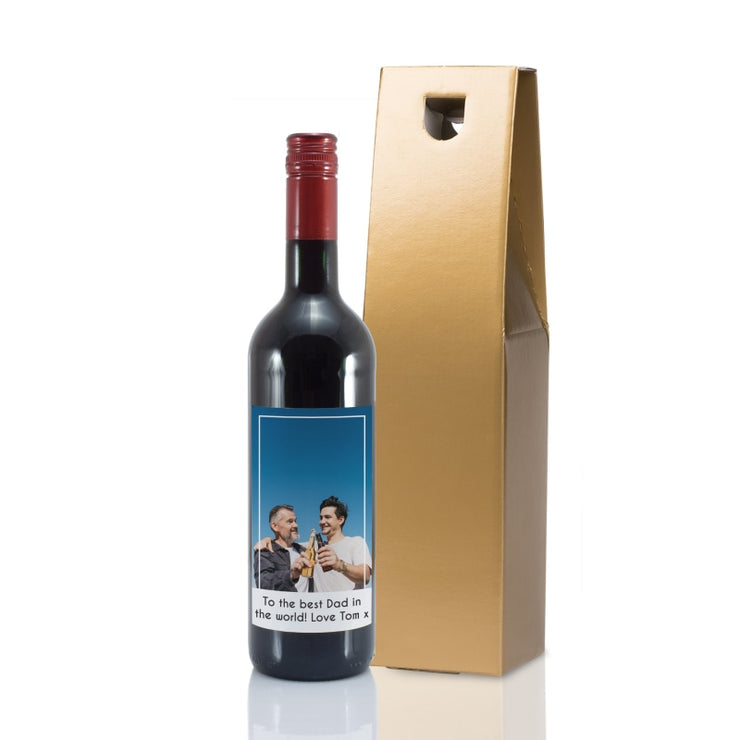 Personalised Photo Upload Bottle Of Red Wine-Wine-Give Personalised Gifts