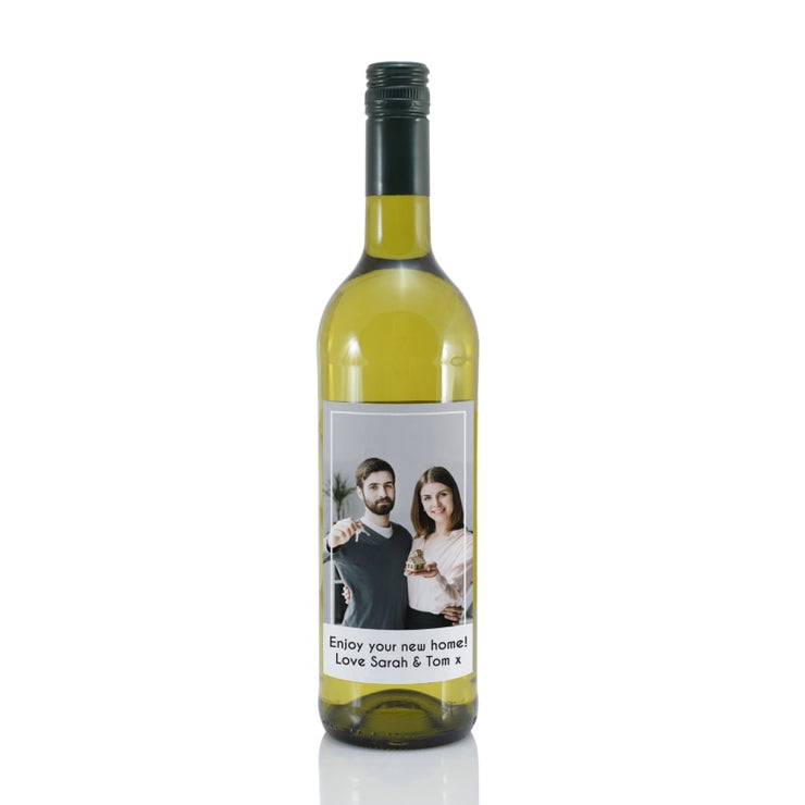 Personalised Photo Upload Bottle Of White Wine-Wine-Give Personalised Gifts