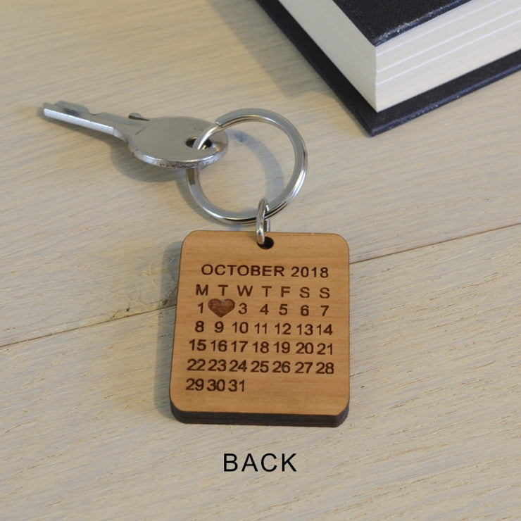 Personalised Photo Wooden Key Ring - The day you became my ...-Keyring-Give Personalised Gifts