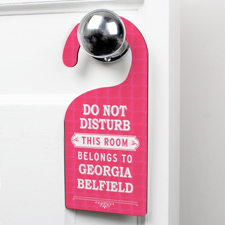 Personalised Pink 'Do Not Disturb' Door Hanger-Door Hanger-Give Personalised Gifts