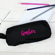 Personalised Pink Name Pencil Case-Pencil Case-Give Personalised Gifts