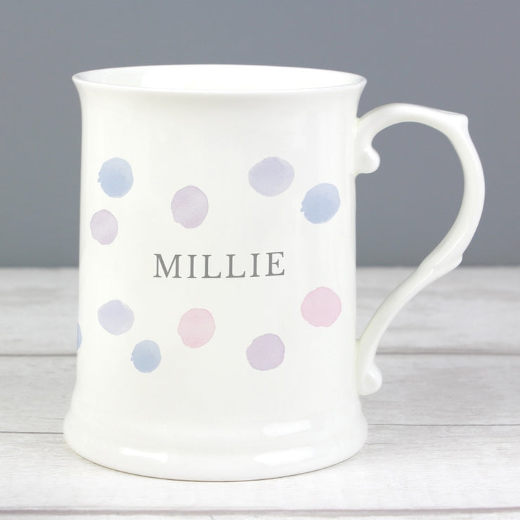 Personalised Pink Spot 15oz Mug-Mugs-Give Personalised Gifts