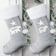 Personalised Polar Bear Luxury Christmas Stocking-Sacks & Stocking-Give Personalised Gifts